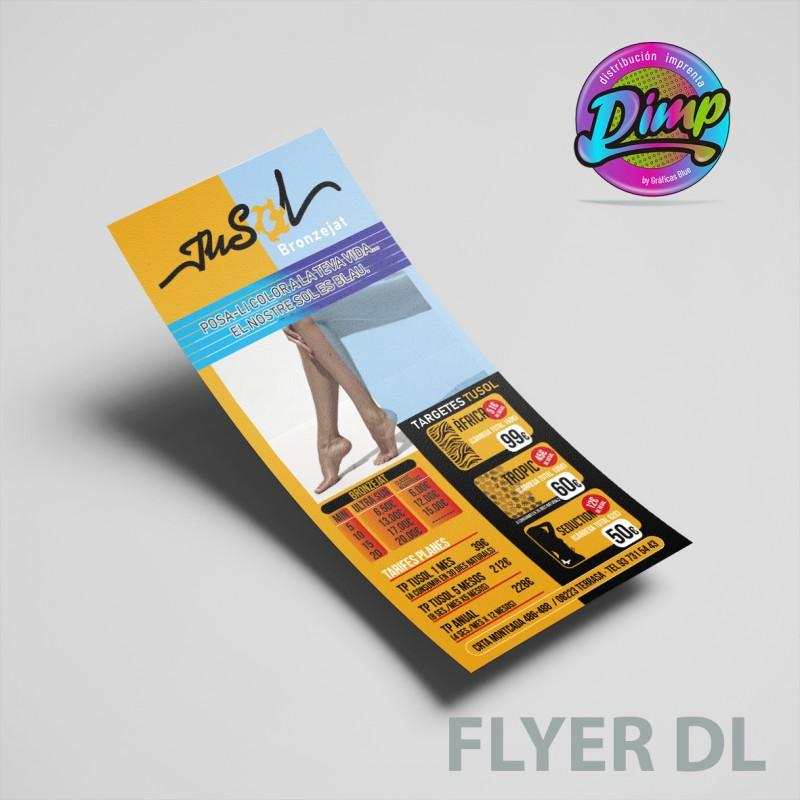 Flyers  DL medida 100x200 mm.