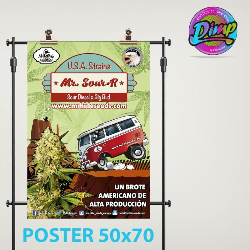 Poster medida 500 x 700 mm.  - 500 unidades