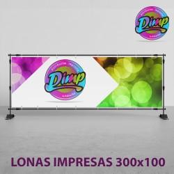 Lona Impresa 300x100