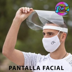 Pantalla facial abatible